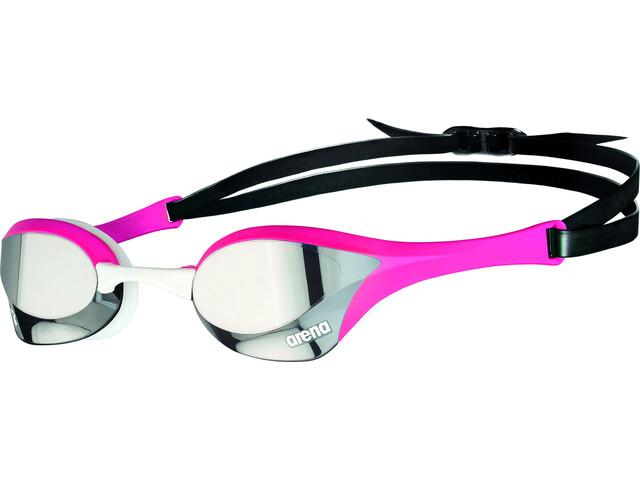 arena Cobra Ultra Swipe Mirror Svømmebriller, silver/pink